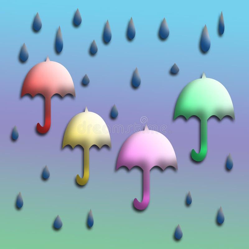 Arte do guarda-chuva ilustração do vetor
