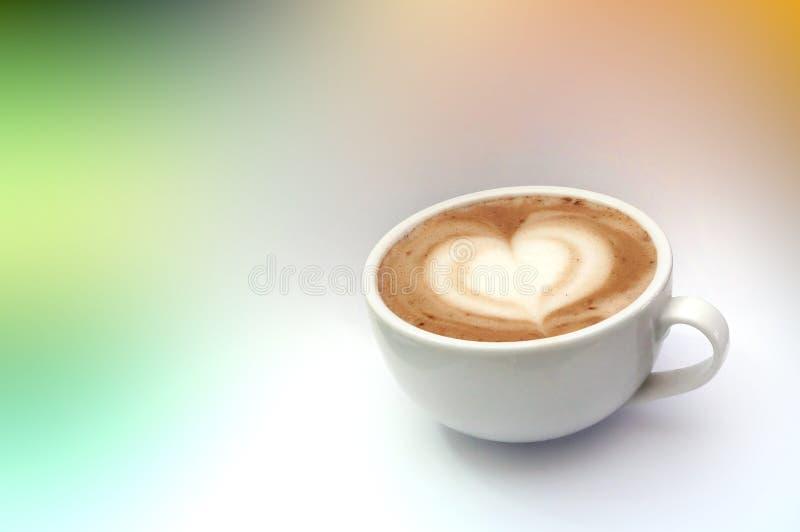 Arte do latte do café imagem de stock