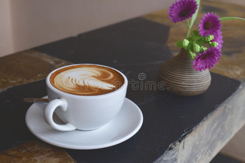Arte do latte do café foto de stock royalty free