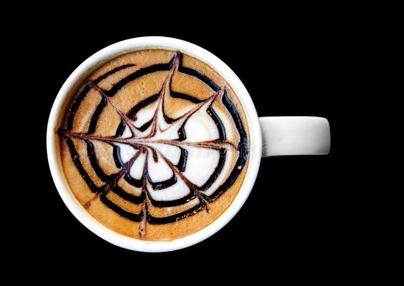 Arte do Latte na caneca fotografia de stock