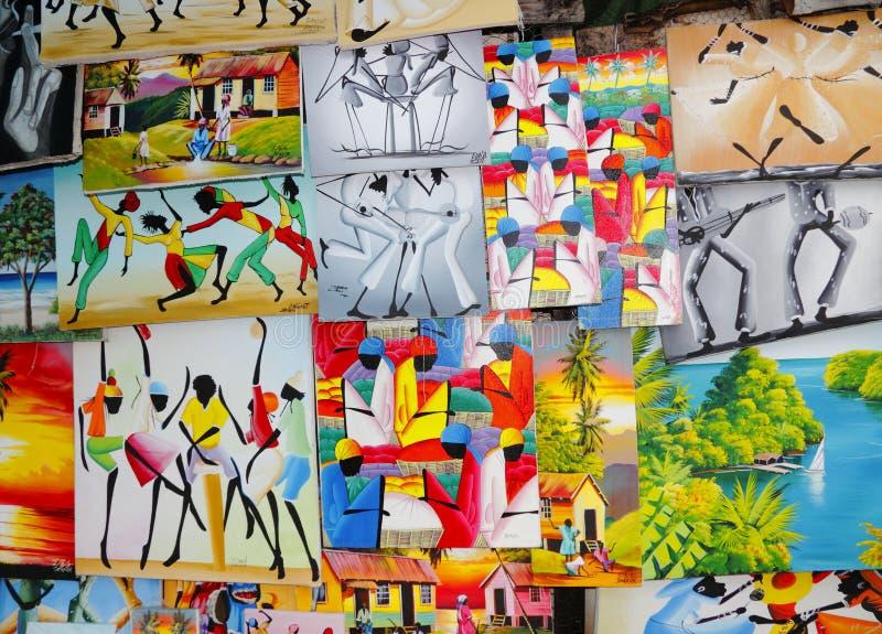 Arte Do Local De Jamaica As Caraíbas Fotografia Editorial