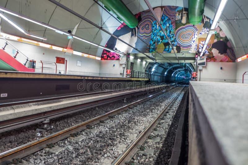 Arte do metro fotografia de stock royalty free