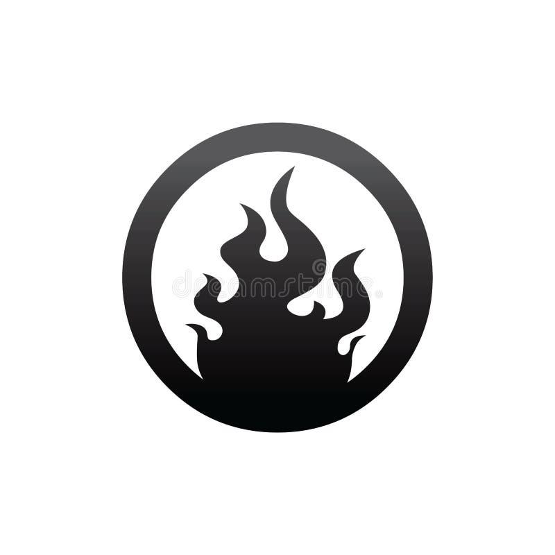 arte do molde do ícone do botão do fogo ilustração stock