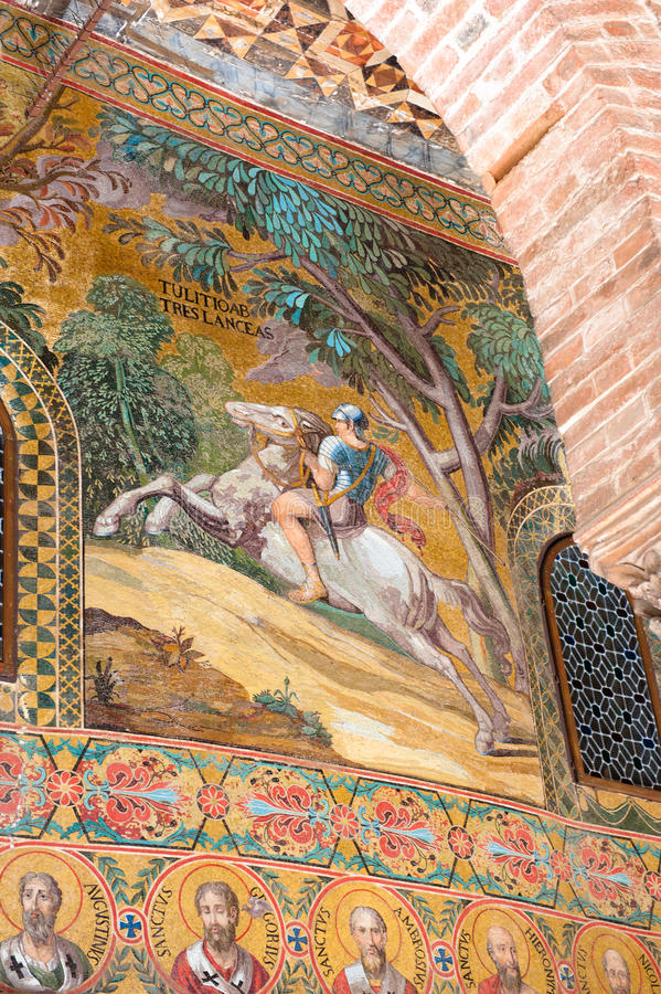 Arte do mosaico - Palermo foto de stock