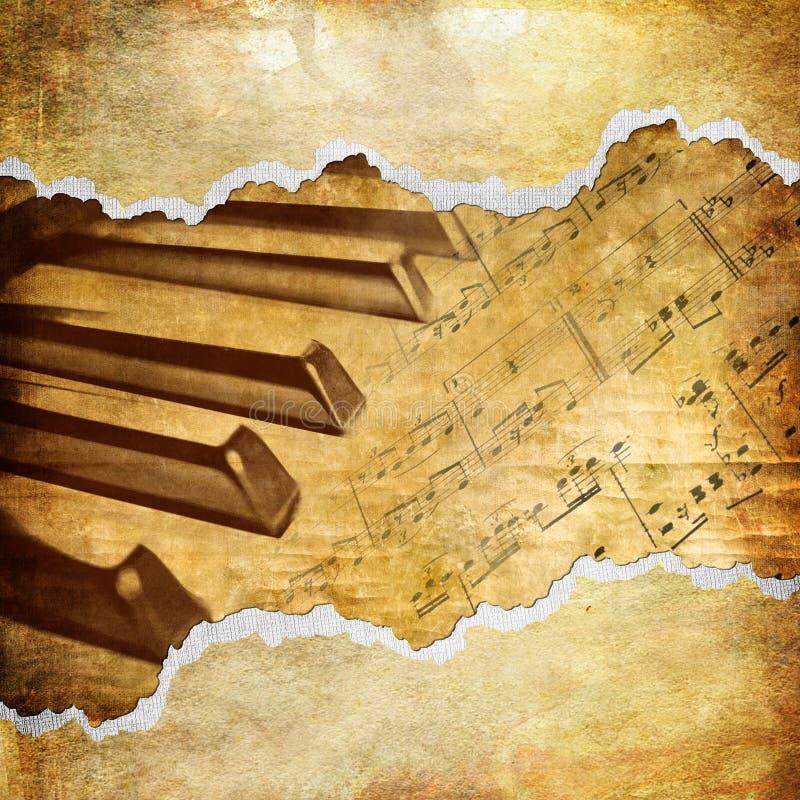 Arte do musical do vintage ilustração stock