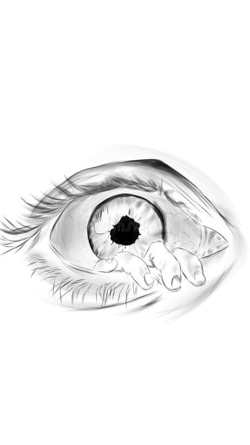 Arte do olho fotografia de stock