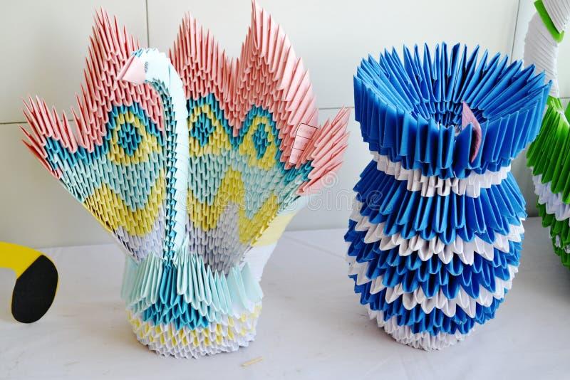 Arte do origami fotos de stock