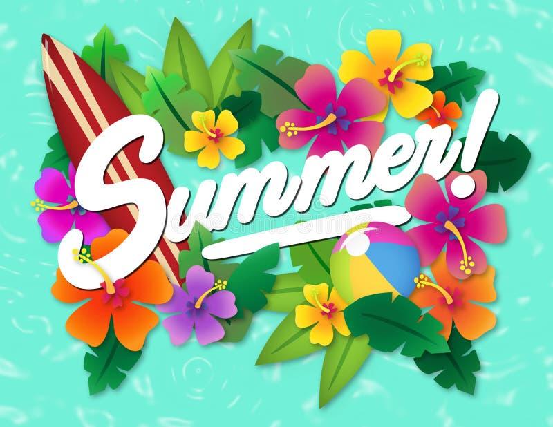 Arte do partido do verão ilustração stock
