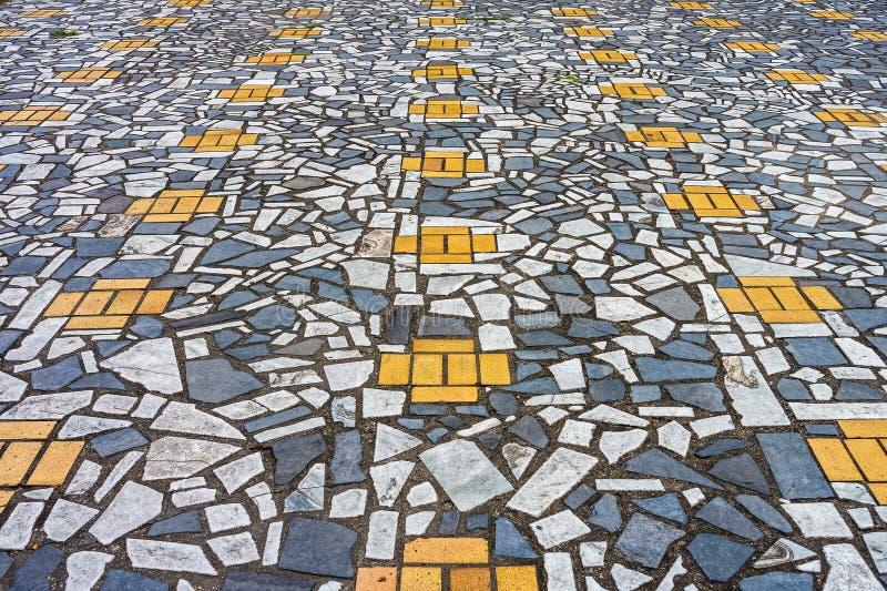 A arte do pavimento de mosaico fotos de stock royalty free