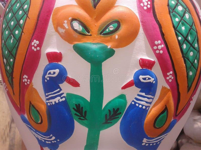 Arte do pikkok da poesia das cores fotografia de stock