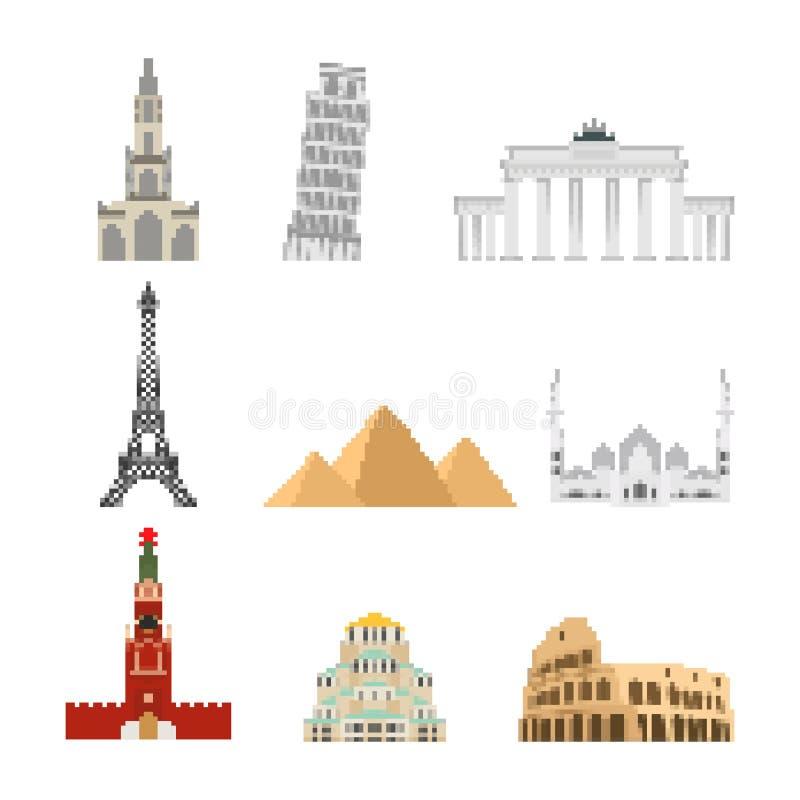 Arte do pixel do grupo do marco Bocado da atração 8 da coleção Showp do mundo ilustração royalty free
