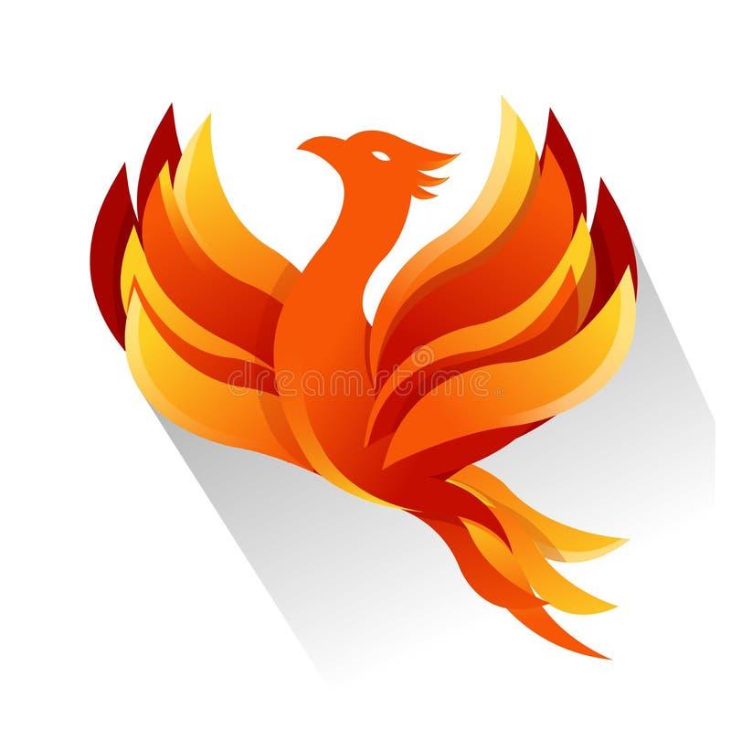 Arte do projeto da ilustração de Phoenix do fogo ilustração stock
