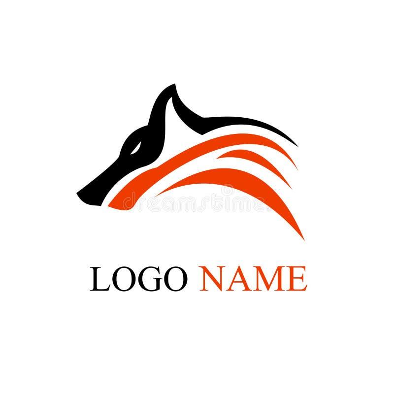 Arte do projeto do logotipo do lobo ilustração do vetor