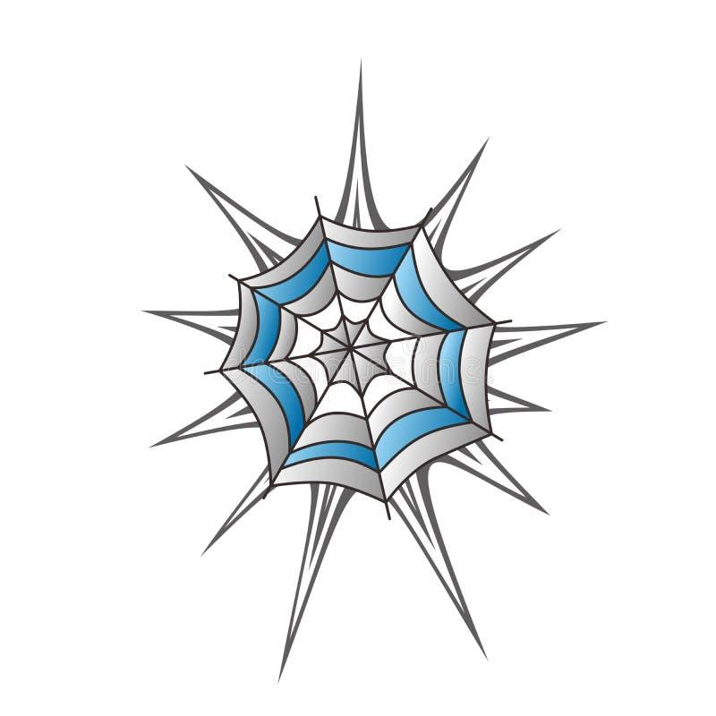 Arte do spiderweb da cor ilustração royalty free