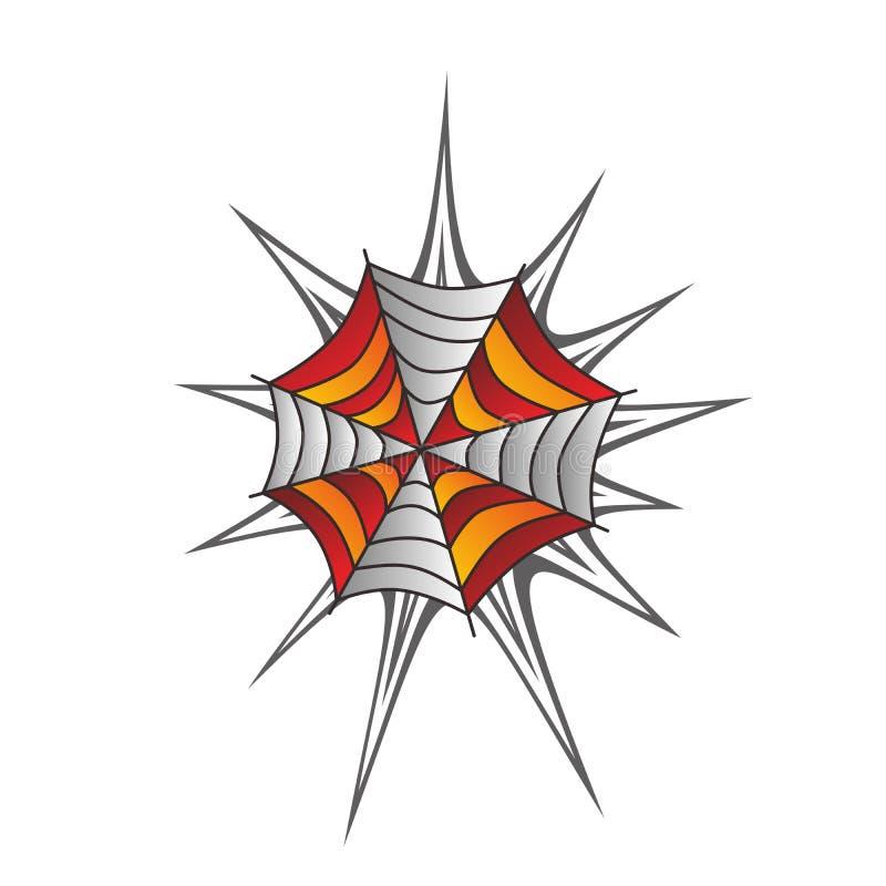 Arte do spiderweb da cor ilustração stock