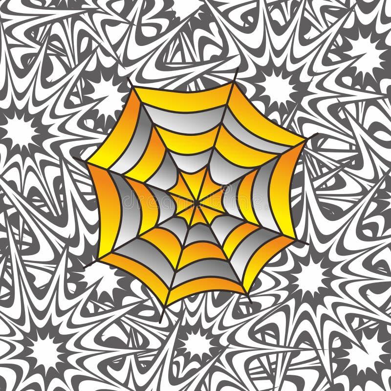 Arte do spiderweb da cor ilustração do vetor