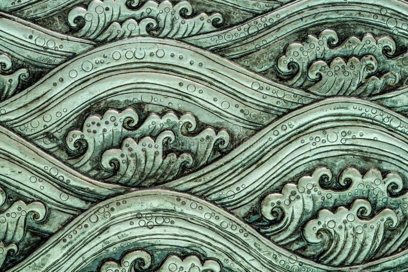 Arte do teste padrão de onda do mar imagem de stock royalty free