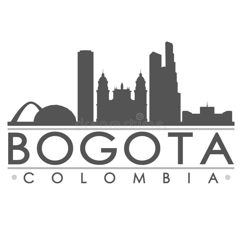 Arte do vetor da cidade do projeto da silhueta de Bogotá ilustração stock