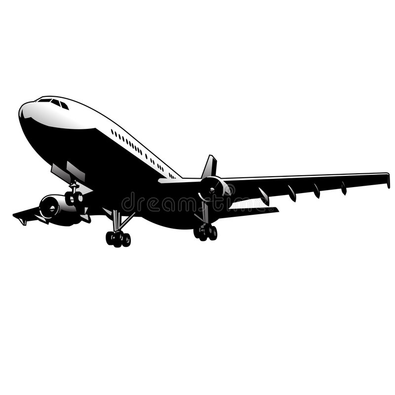 Arte do vetor do avião ilustração royalty free