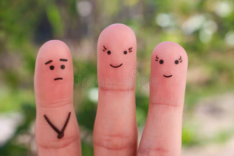 Arte dos dedos dos povos imagens de stock