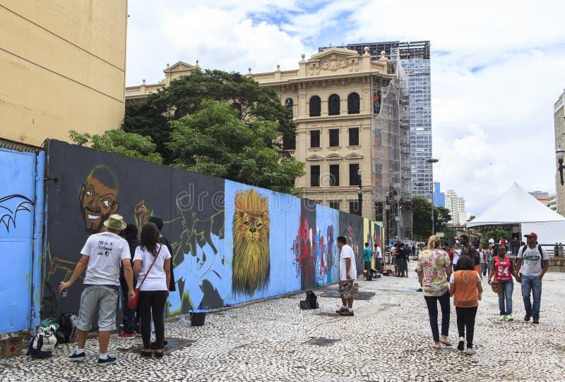 Arte dos grafittis em Sao Paulo, Brasil fotos de stock royalty free