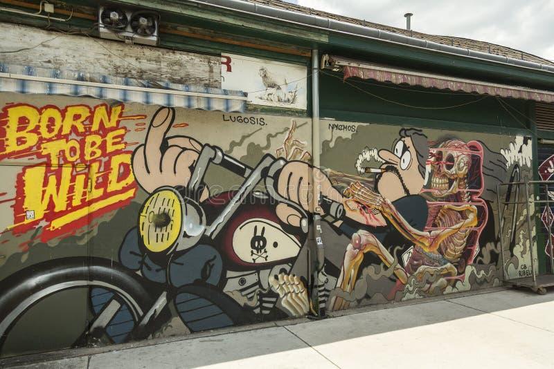 Arte dos grafittis em Viena fotos de stock