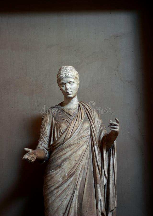Arte e escultura no museu do Vaticano imagem de stock