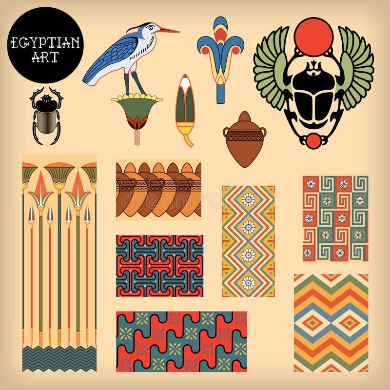 Arte egípcia ilustração do vetor