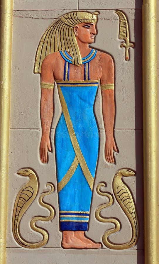 Arte egípcia da parede de Pharoah fotos de stock royalty free