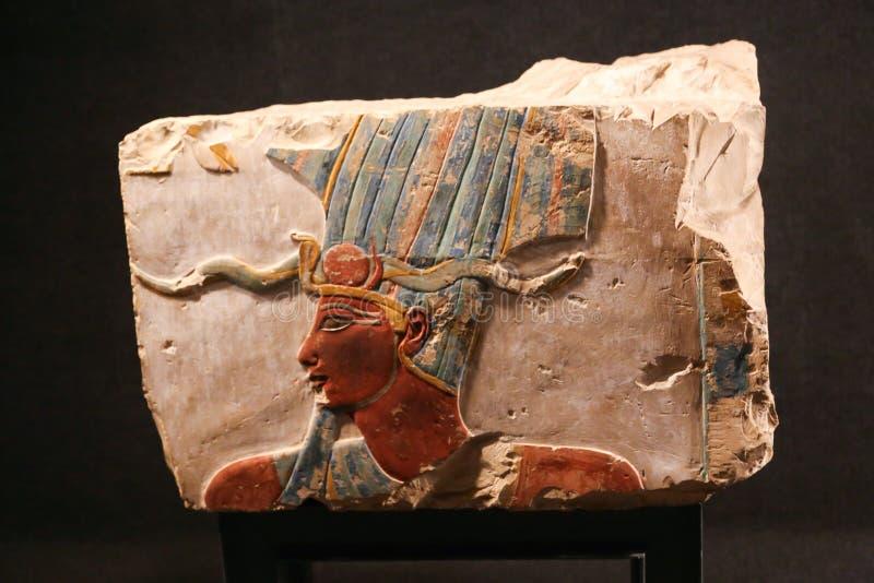 Arte egipcio antiguo en el museo de Luxor en Egipto fotografía de archivo libre de regalías