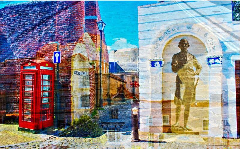Arte em Portsmouth velho por Timo imagem de stock