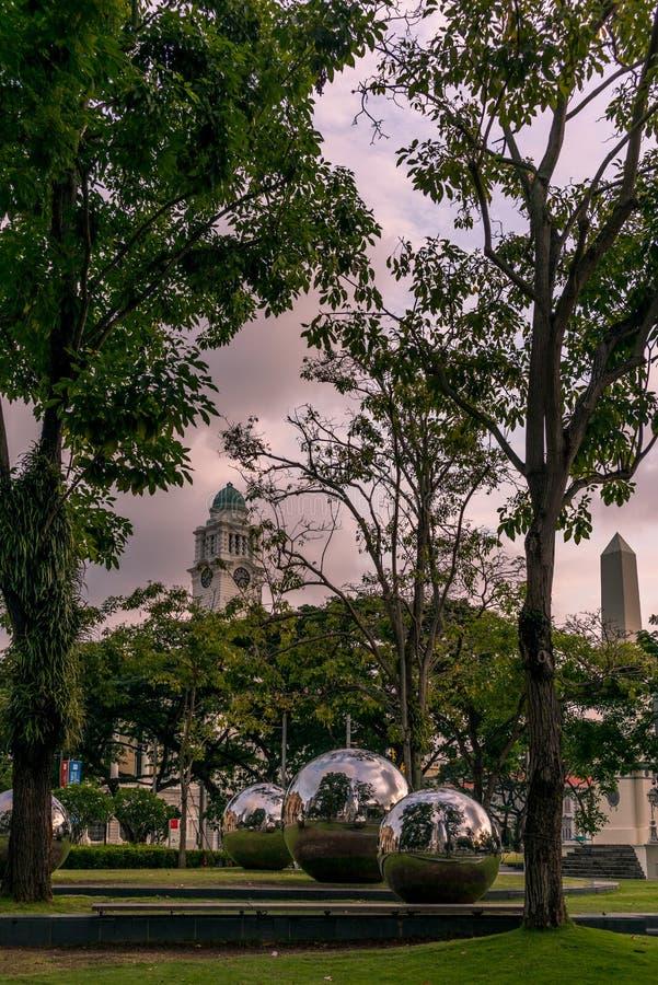 Arte en el parque del museo asiático de la civilización fotografía de archivo
