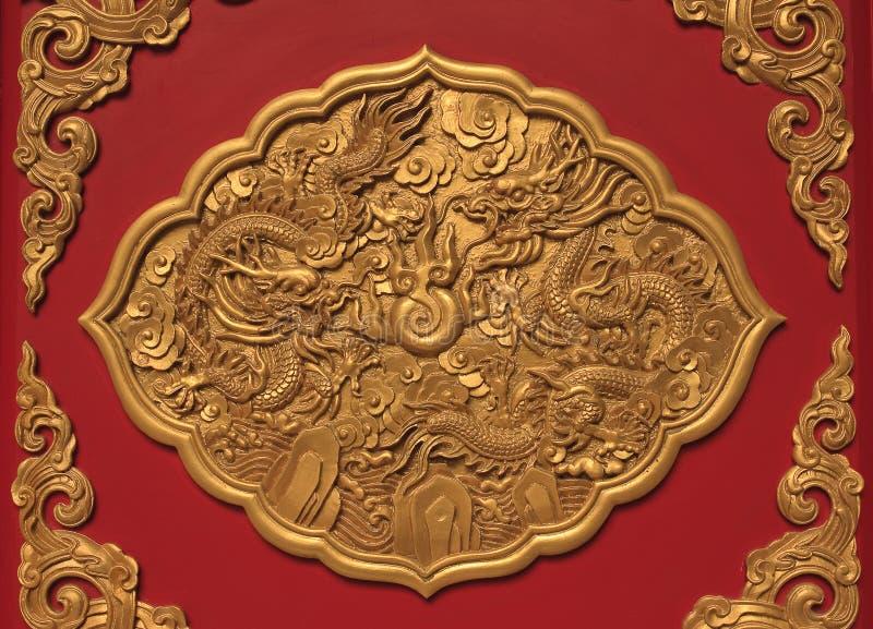 Arte en estilo chino del templo en Tailandia imagenes de archivo