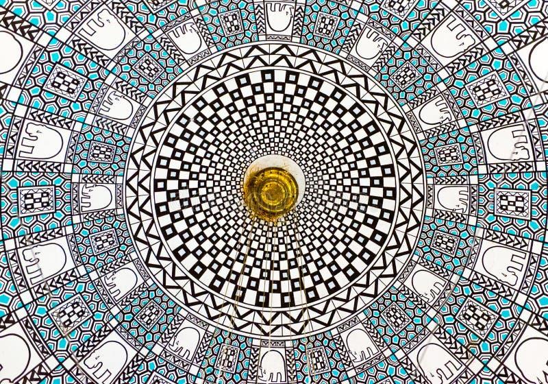 Arte espiral abstracto de la arquitectura imágenes de archivo libres de regalías