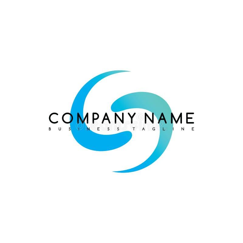 arte exclusivo del logotipo del logotipo de la plantilla de la compañía de la marca stock de ilustración