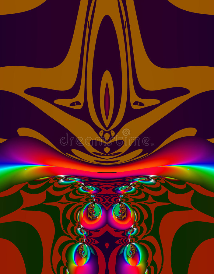 Arte extranjero del fractal stock de ilustración