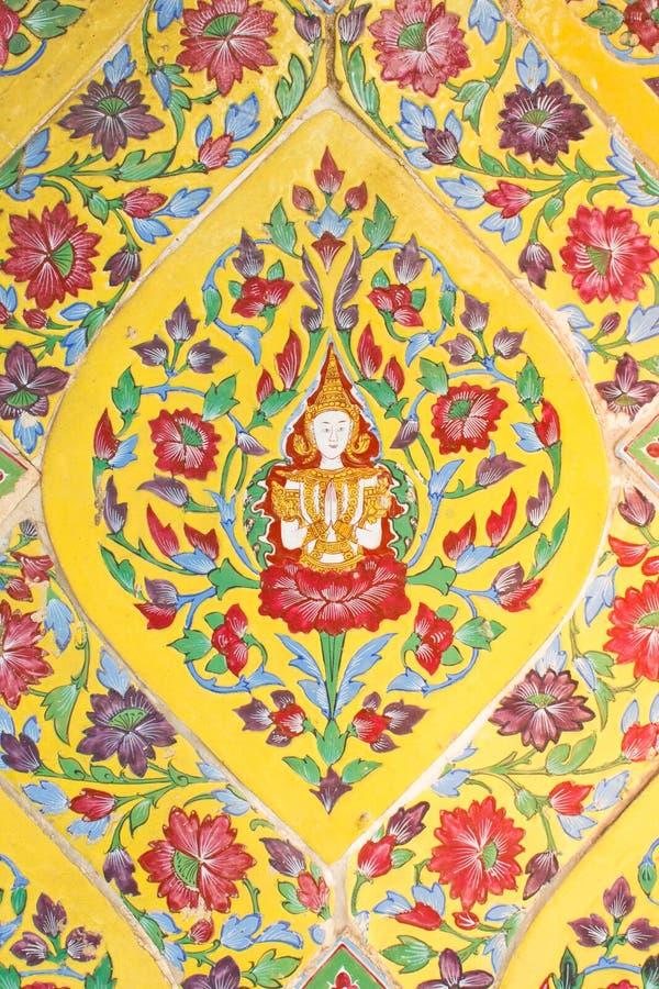 Arte -final antiga colorida, Tailândia fotos de stock