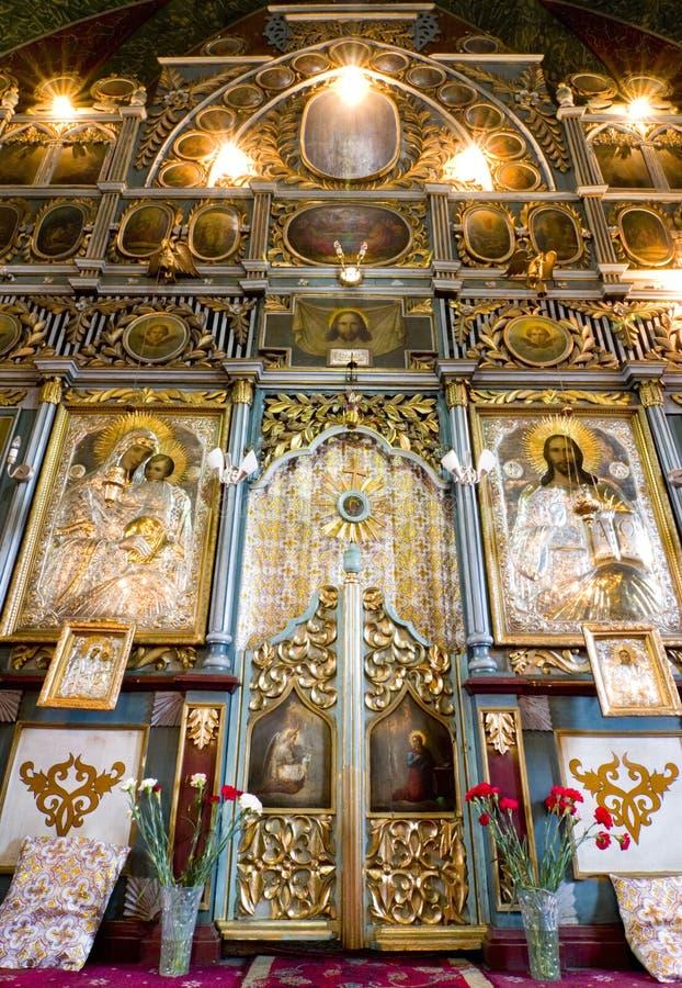 Arte -final bonita da igreja fotografia de stock royalty free
