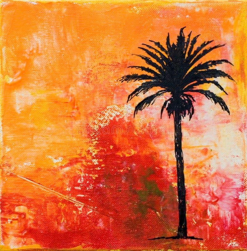 arte -final da Palma-árvore ilustração do vetor
