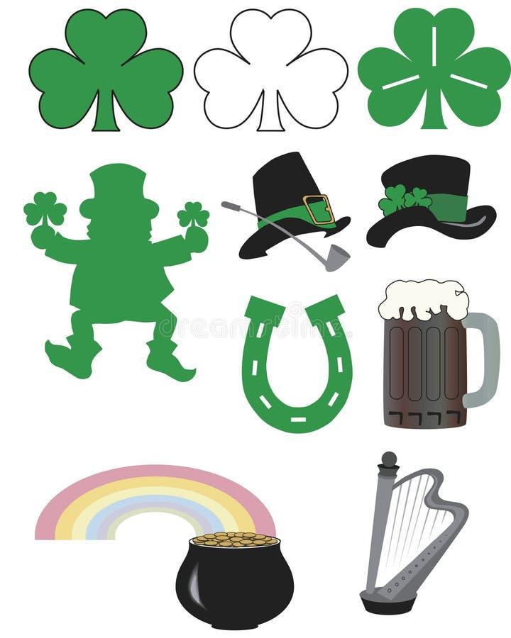Arte -final do dia do St. Patrick fotografia de stock