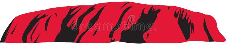 Arte -final do vetor de Uluru - rocha Austrália dos ayers ilustração stock