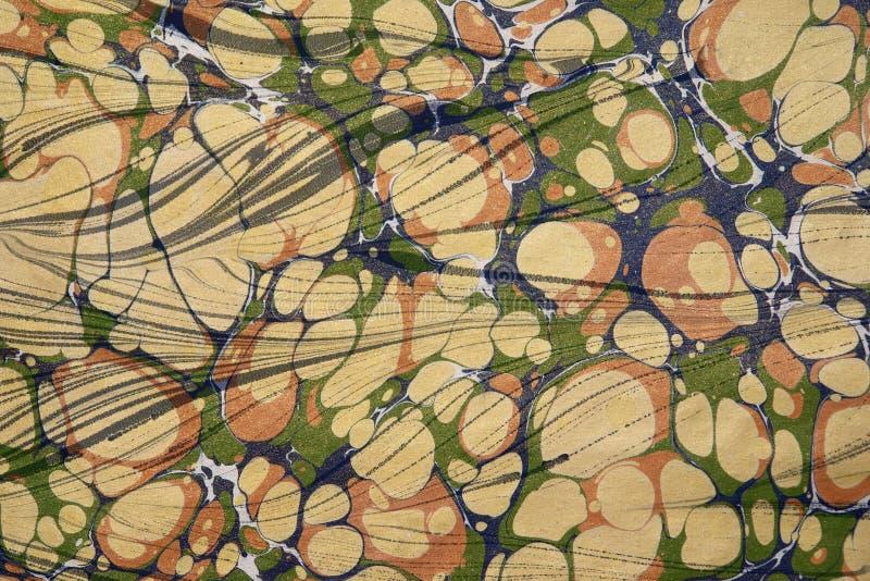 Arte -final turca do papel marmoreado foto de stock