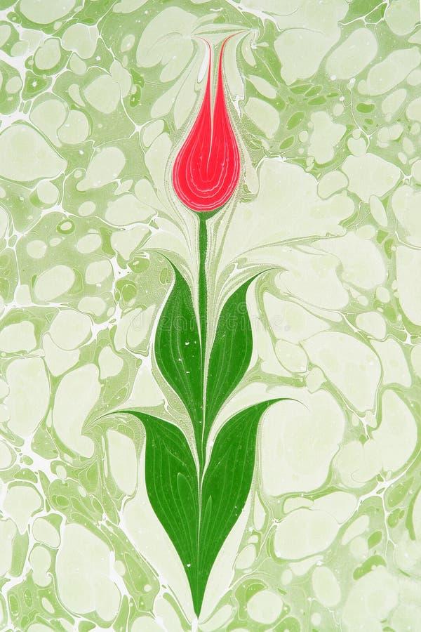 Arte -final turca tradicional do papel marmoreado ilustração royalty free