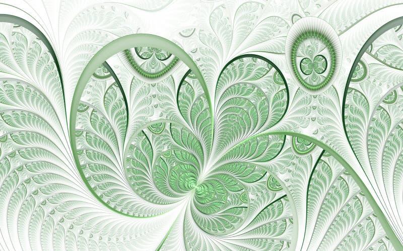 Arte finala abstrata bonita do fractal com detalhes Ilustração floral para projetos da arte ilustração royalty free