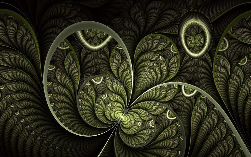 Arte finala abstrata bonita do fractal com detalhes Ilustra??o floral para projetos da arte ilustração stock