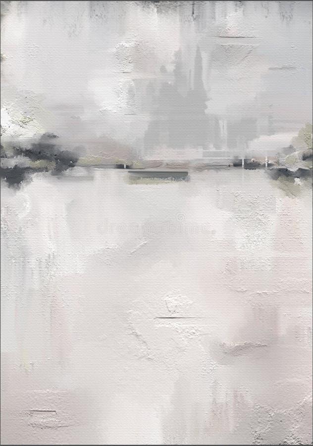 Arte finala abstrata do estilo da pintura a óleo na lona ilustração do vetor