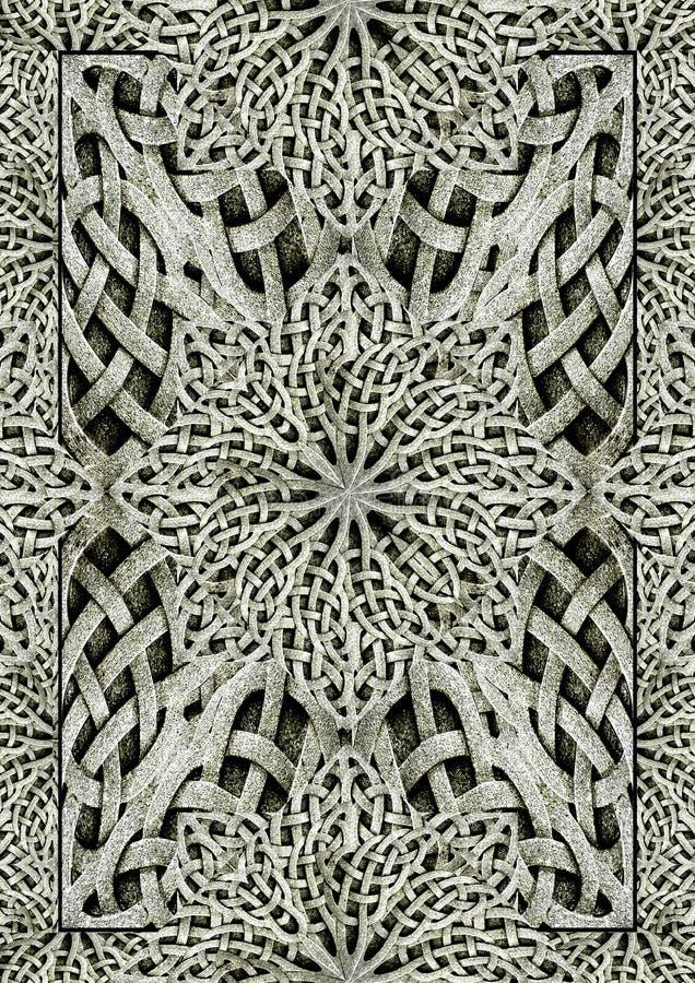 Arte finala antiga da pedra do ornamento do Arabesque foto de stock