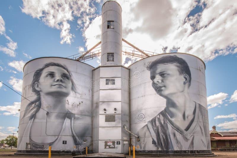 Arte finala da fuga do silo em Rupanyup foto de stock royalty free