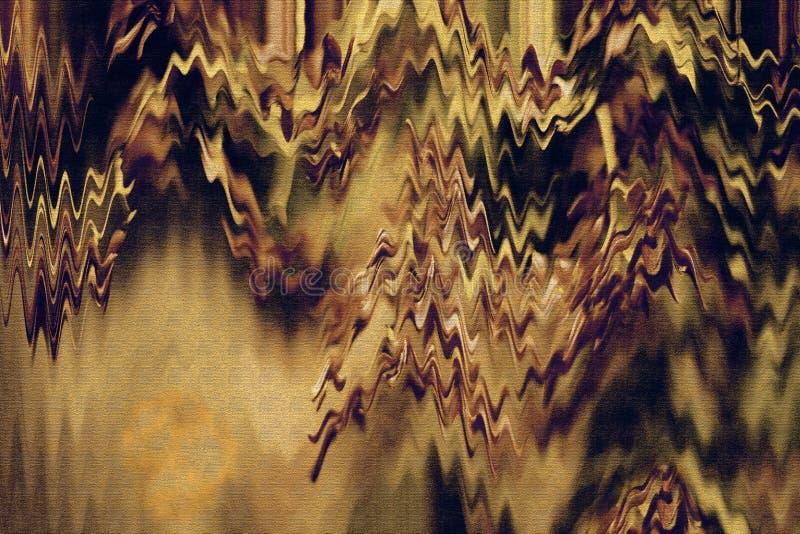 Arte finala da mola Escove cursos da pintura do grunge Papel gravado Autumn Paper Arte contemporânea O sumário colorido surge ilustração royalty free