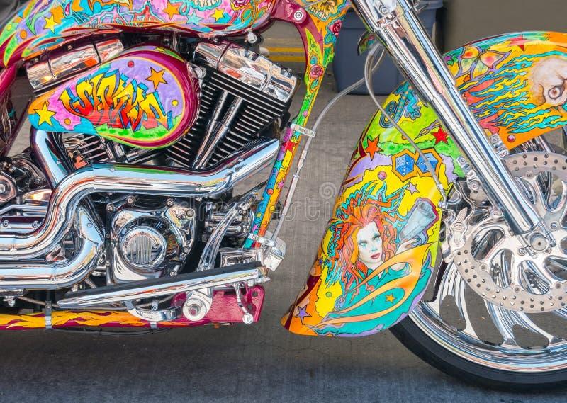 Arte finala da motocicleta em vibrações da rua fotografia de stock